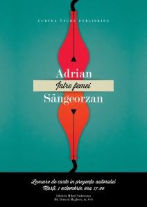 afis_lansare Adrian Sangeorzan