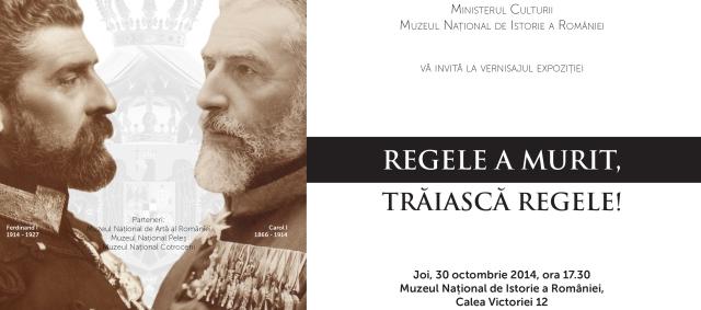 INVITATIE_REGELE A MURIT, TRAIASCA REGELE_MNIR2014