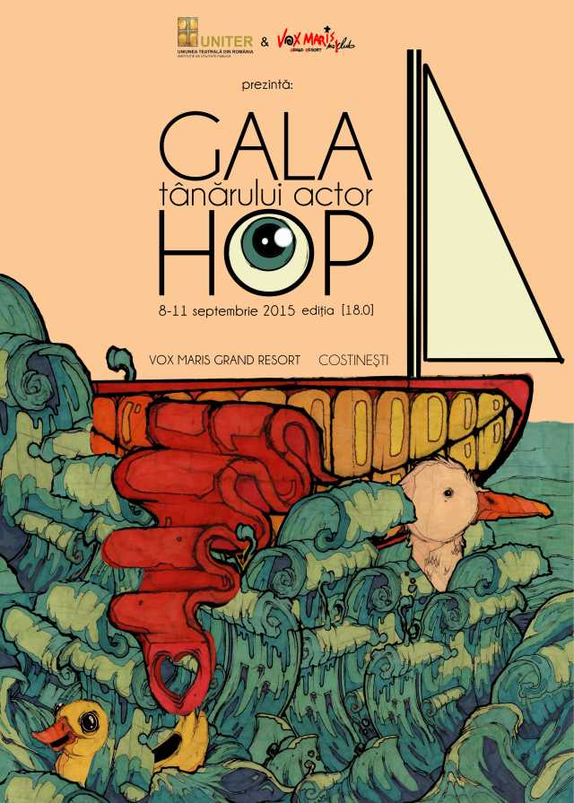 afis Gala HOP 2015. grafica Tudor Prodan